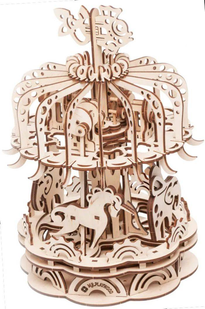Gigamic Carrousel Petit Modele - Maquette 3D Mobile En Bois