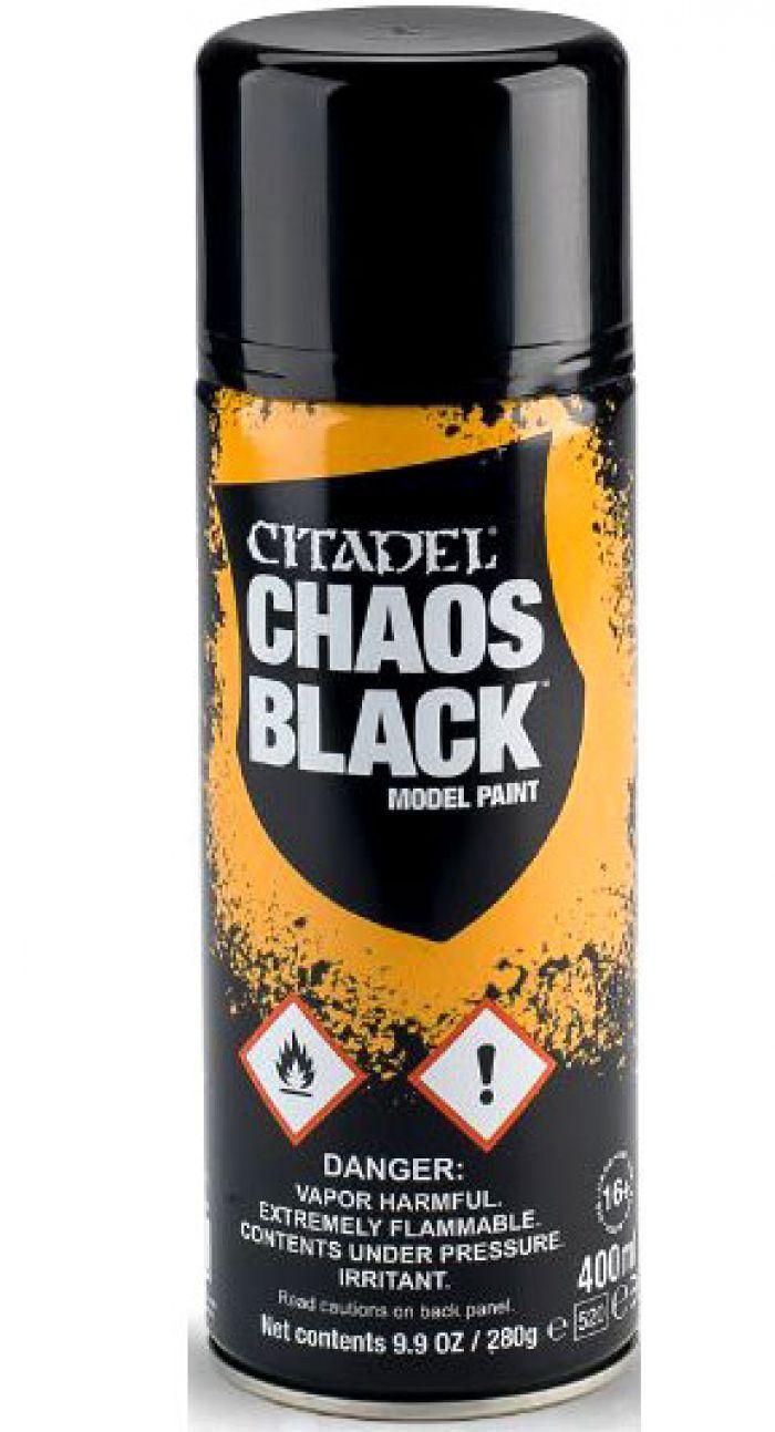 Games Work Shop CHAOS BLACK SPRAY (GLOBAL) CITADEL