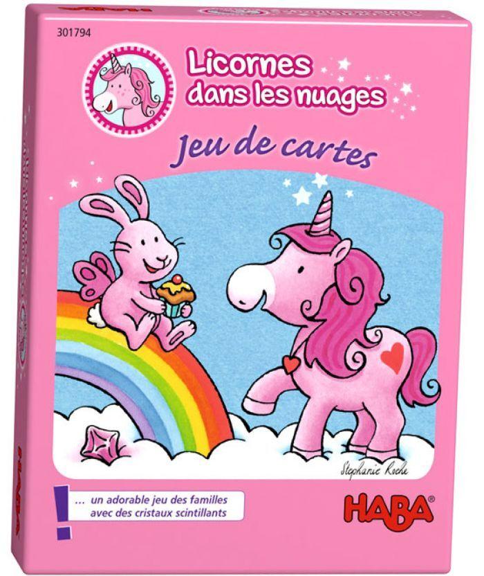 Haba LICORNES DANS LES NUAGES - JEU DE CARTES