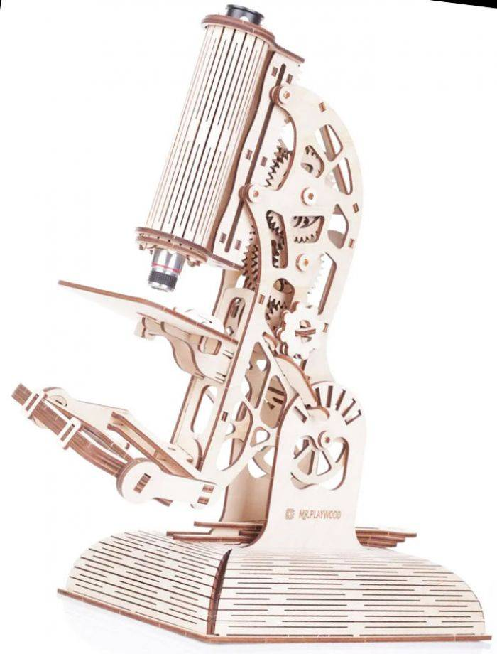 Gigamic Microscope Maquette 3D Mobile En Bois