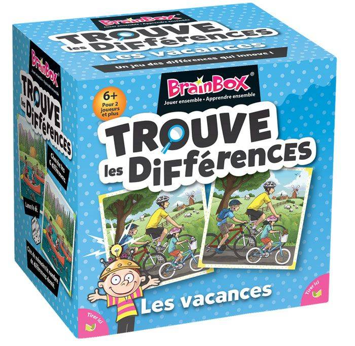 Asmodee BrainBox : Trouve Les Differences Vacances