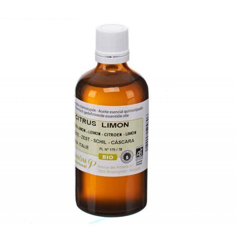 Pranarom citron zeste bio huile essentielle 100ml