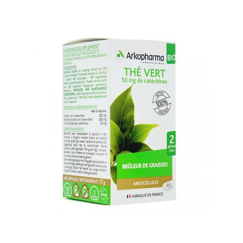 Arkopharma arkogélules thé vert 40 gélules