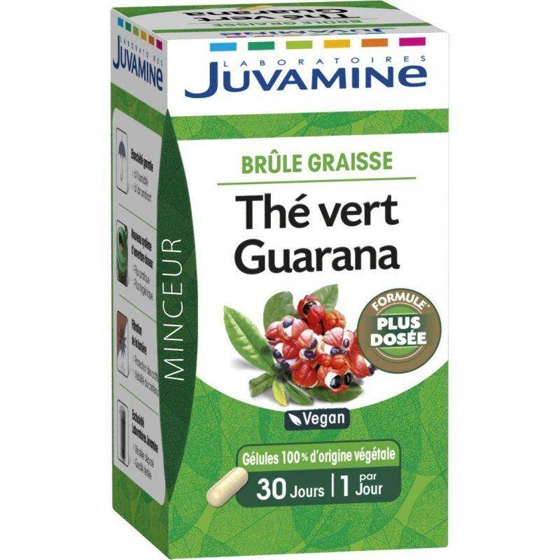 Juvamine Laboratoires - Juvamine minceur brûle-graisse thé vert guarana 30 gélules