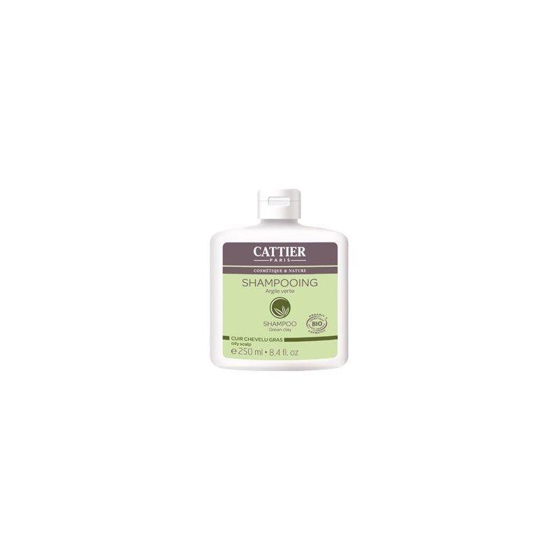 Cattier shampooing bio argile verte cuir chevelu gras 250 ml