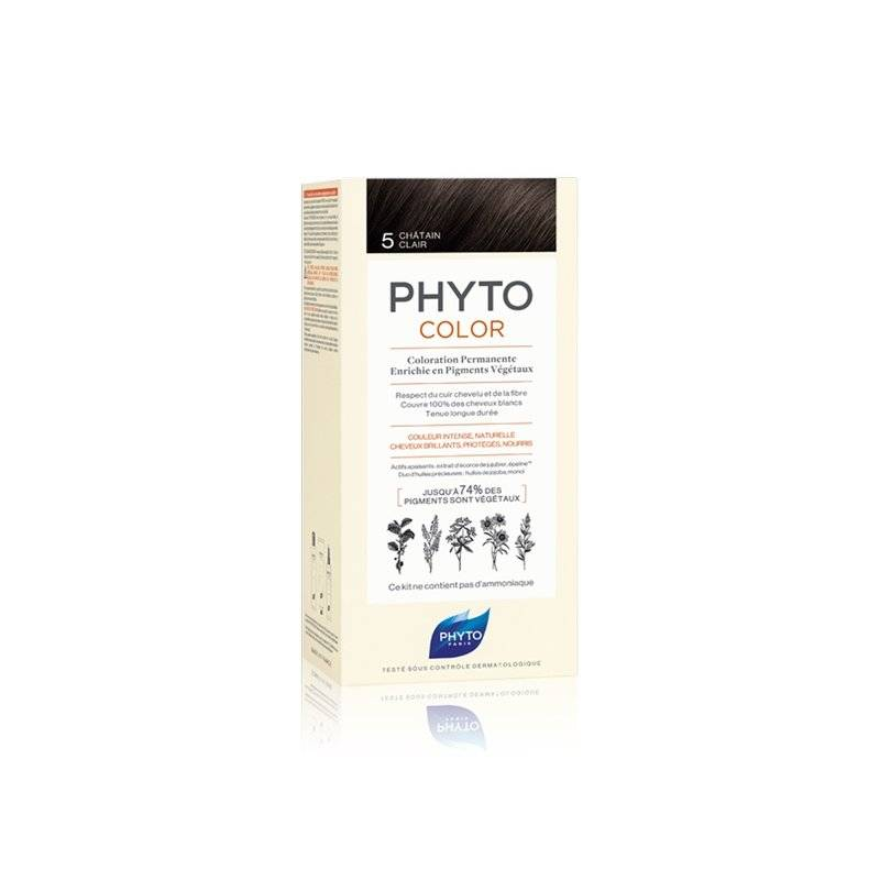 Phyto color coloration permanente 5 châtain clair - Chatain