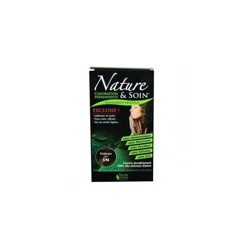 Santé Verte - Nature et soin coloration permanente châtain clair 5n 129ml - Chatain