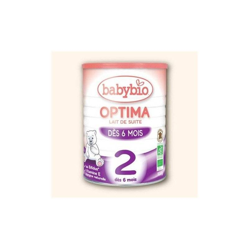 Babybio optima 2 lait de suite bio bifidus  + 6 m 2em.age 900g