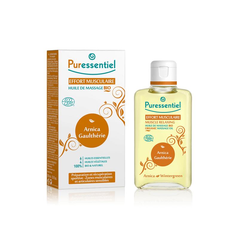 Puressentiel effort musculaire huile de massage bio arnica gaulthérie 100ml