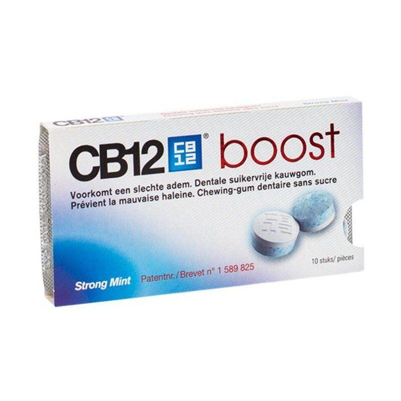 Cb12 boost strong mint chewing gum sans sucre 10 pièces