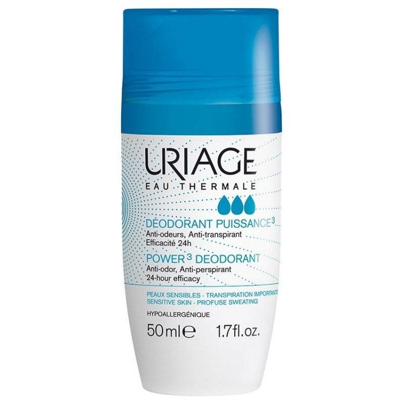 Uriage déodorant puissance 3 roll on 50ml