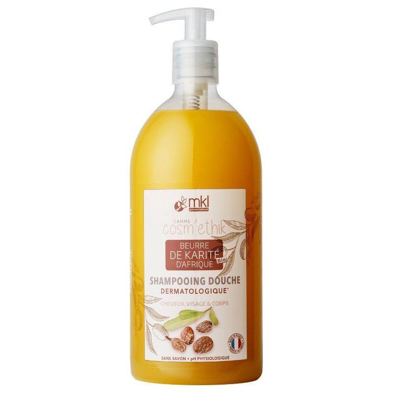 Mkl Green Nature cosm'ethik shampooing douche beurre de karité bio 1l