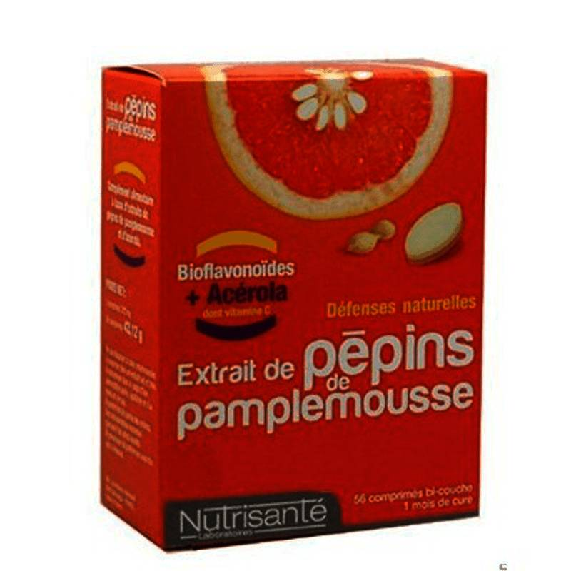 Nutrisante - Extrait de pépins de pamplemousse+acerola 56 comprimés