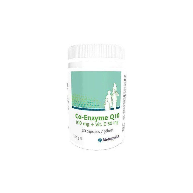 Metagenics co-enzyme q10+vitamine e capsules 30 x 100mg