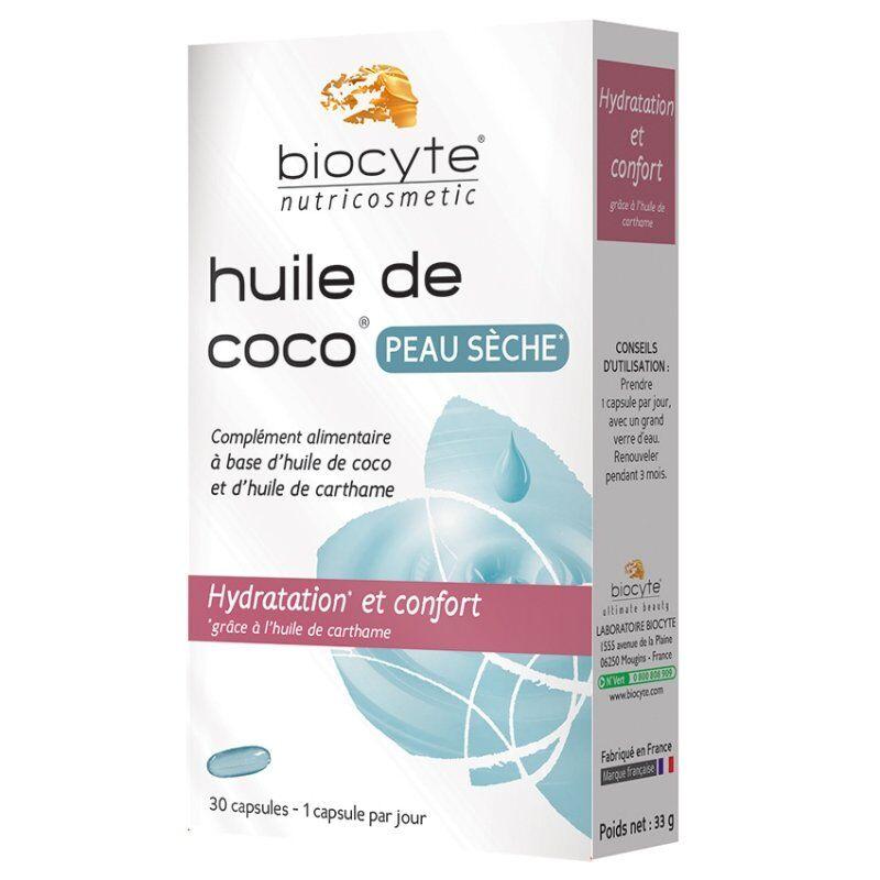 Biocyte huile coco peau sèche 30 capsules