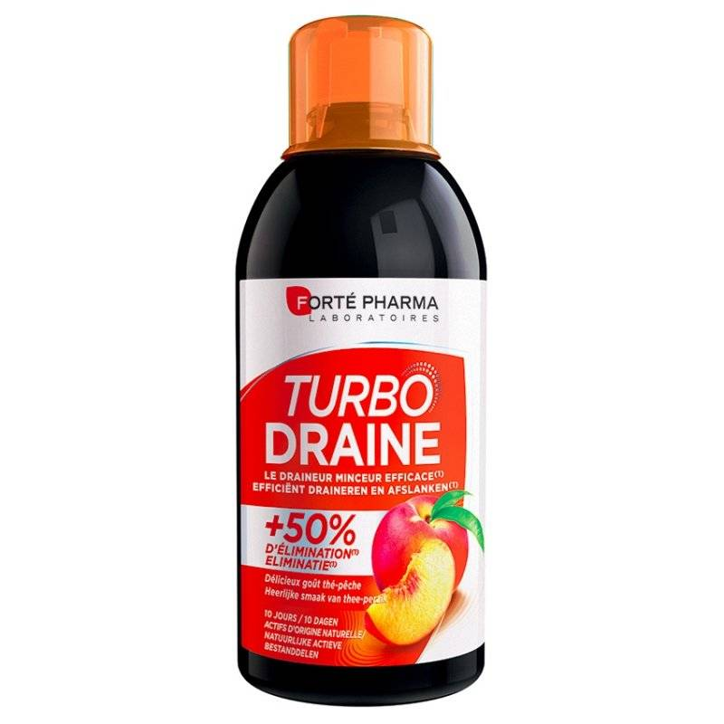 Forte Pharma turbodraine minceur thé vert pêche 500ml