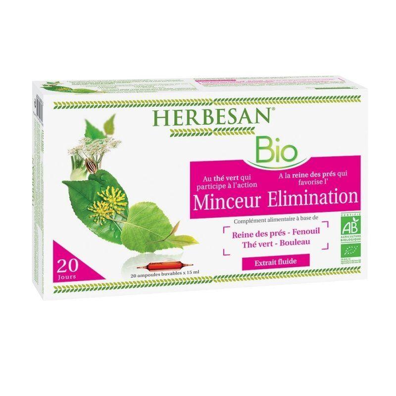 Herbesan thé vert reine des près minceur elimination bio 20 ampoules de 15ml