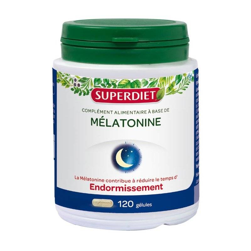 Superdiet mélatonine endormissement 120 gélules