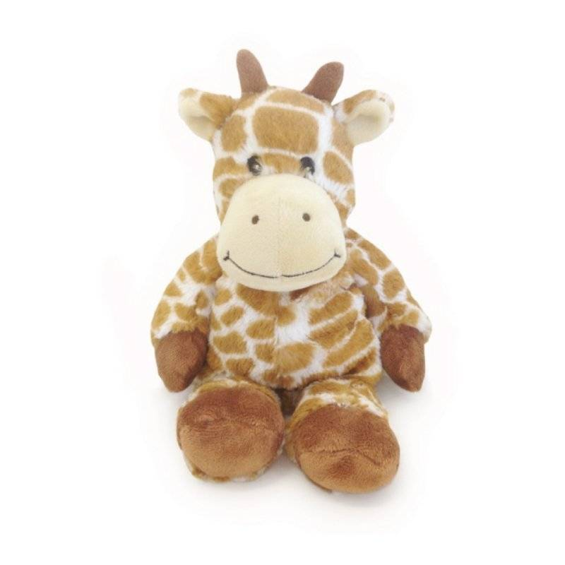 Soframar warmies cozy peluches bouillotte girafe - Chatain