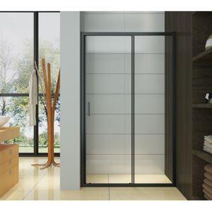 Doccelli Porte de douche coulissante - profilés noirs - 120 x 195 cm - Irwin - DOCCELLI - Publicité
