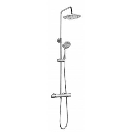 Azzuro Ensemble de douche chromé - mitigeur thermostatique - tête diam. 22 cm - Winsley - AZZURO