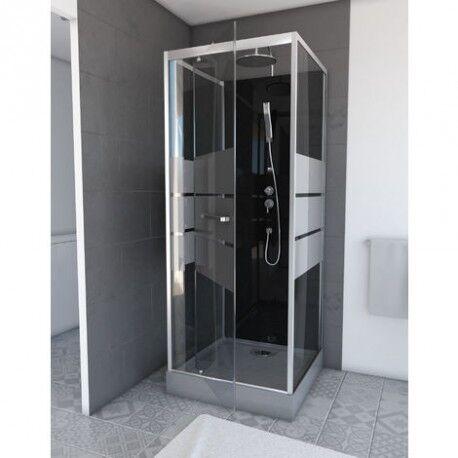 Aurlane Cabine de douche complète - carrée - 90 x 90 x 220 cm - Study - AURLANE
