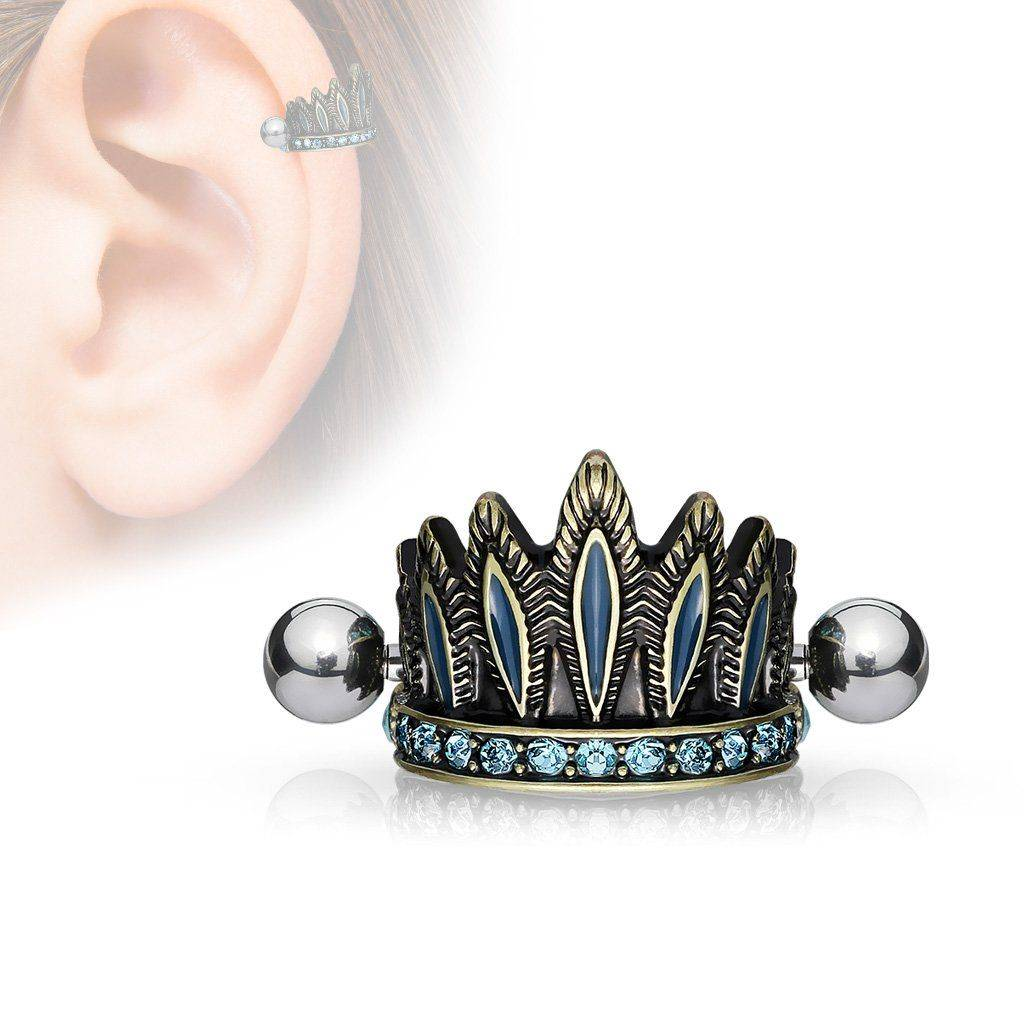 """""""Piercing Street"""" """"Piercing cartilage coiffure chef indien antique turquoise"""""""