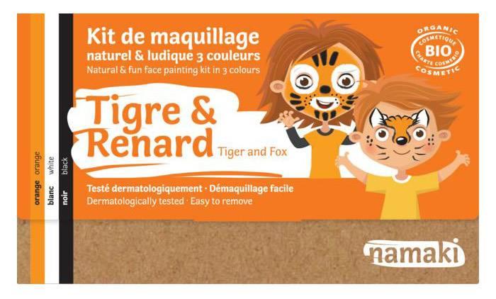 NAMAKI Kit maquillage bio 3 couleurs - Tigre et Renard