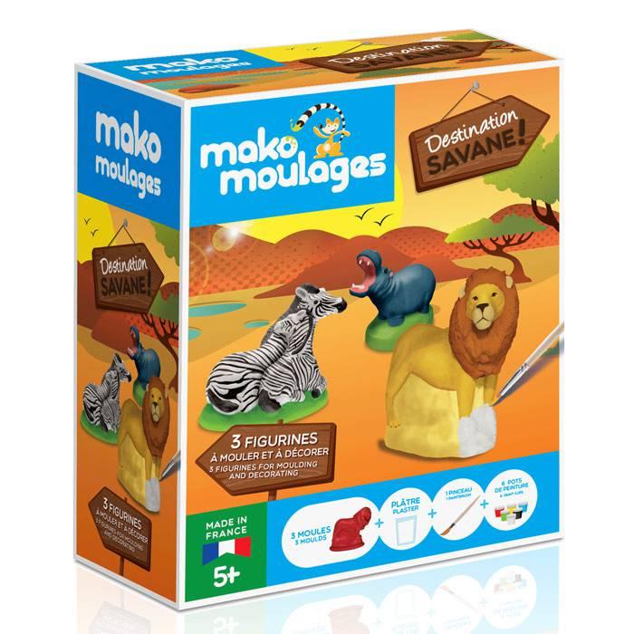 MAKO CREATIONS Mako moulages - 3 figurines - Destination Savane