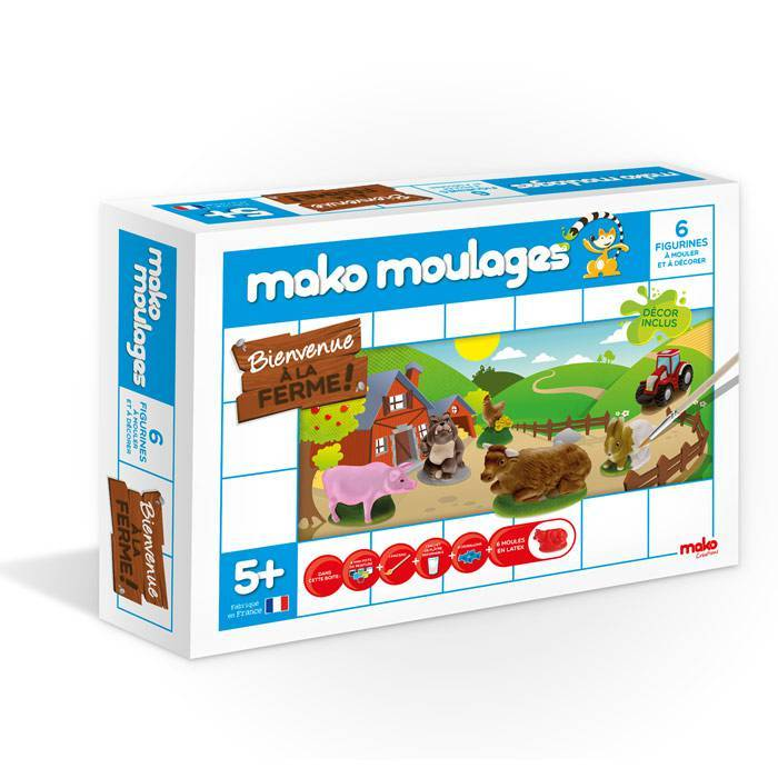 MAKO CREATIONS Mako moulages - 6 figurines - A la Ferme