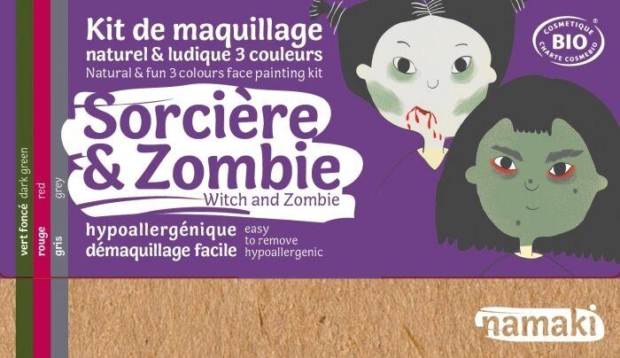 NAMAKI Kit maquillage bio 3 couleurs - Sorcière et Zombie