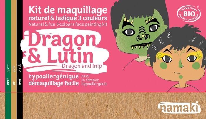 NAMAKI Kit maquillage bio 3 couleurs - Dragon et Lutin