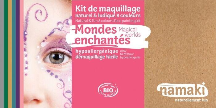 NAMAKI Kit maquillage bio 8 couleurs - Mondes enchantés
