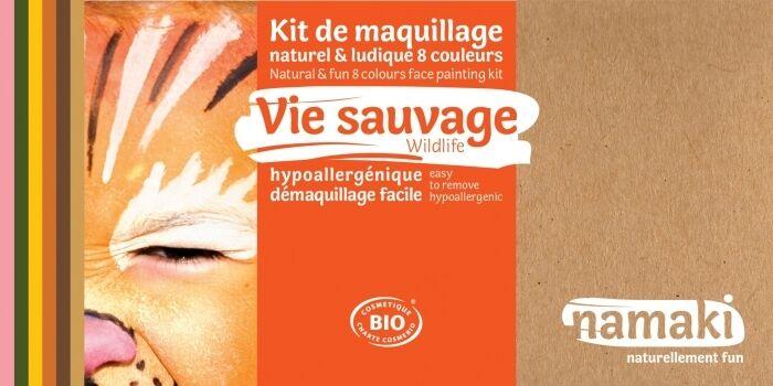 NAMAKI Kit maquillage bio 8 couleurs - Vie sauvage