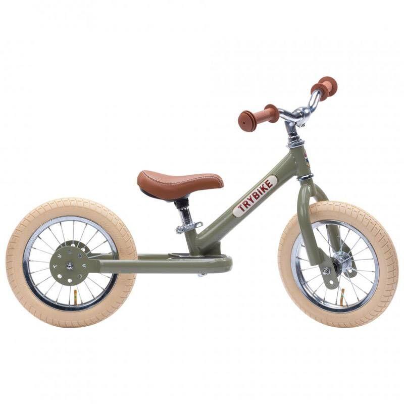 TRYBIKE Draisienne acier vintage Verte - Trybike