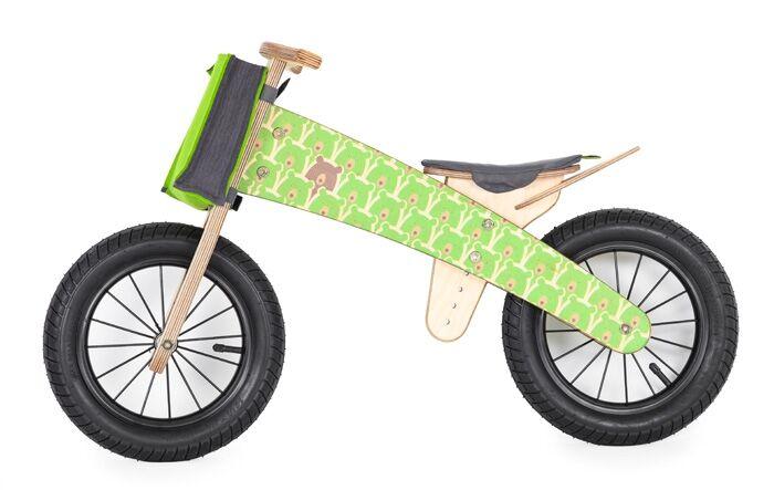 DIP DAP Draisienne en bois Kit Mini - Ours vert