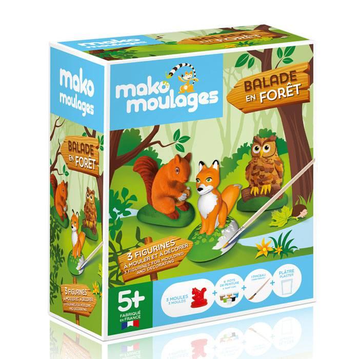 MAKO CREATIONS Mako moulages - 3 figurines - Balade en forêt