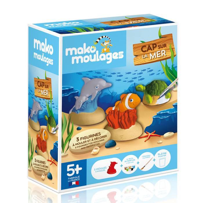 MAKO CREATIONS Mako moulages - 3 figurines - Cap sur la mer