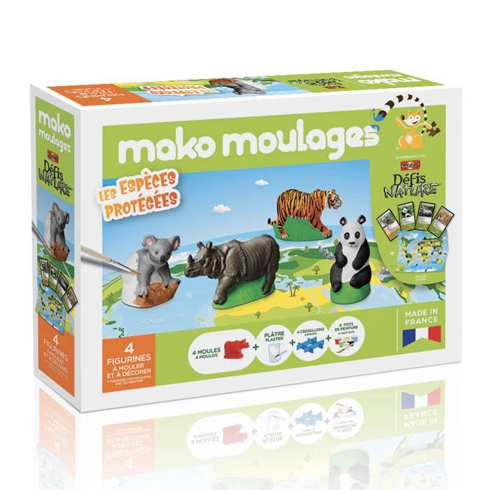 MAKO CREATIONS Mako moulages - 4 figurines - Les espèces protégées