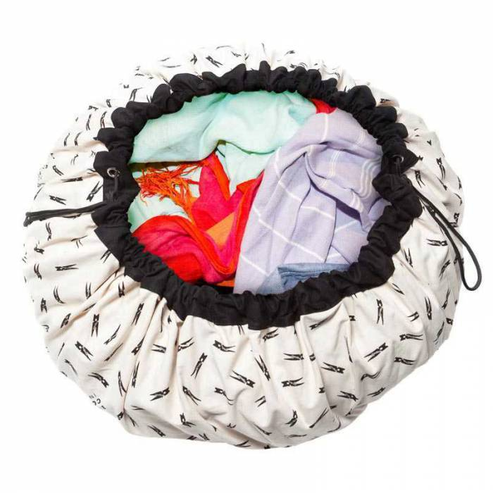 PLAY & GO Sac rangement / Tapis - Pince à linge - Play and Go