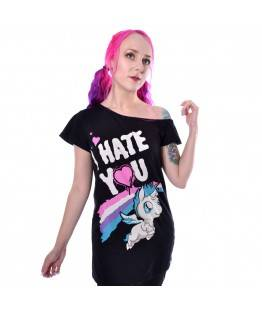 Top Cupcake Cult Hate You : Taille - S, Couleur - Noir