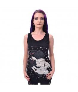 Débardeur Cupcake Cult Dream bunny : Taille - XL, Couleur - Noir