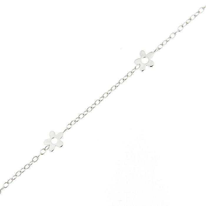 Trabbia Vuillermoz Bracelet Enfant Or Blanc 375 Motifs Fleurs - Bijoux Enfant