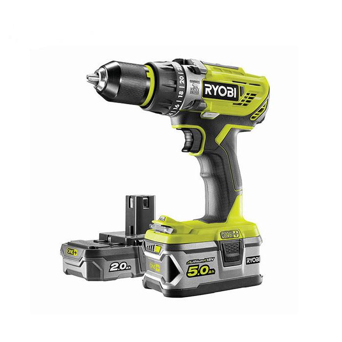 Ryobi Perceuse-visseuse à percussion 18V ONE+ Ryobi + 2 batteries, 1 chargeur et sac de transport