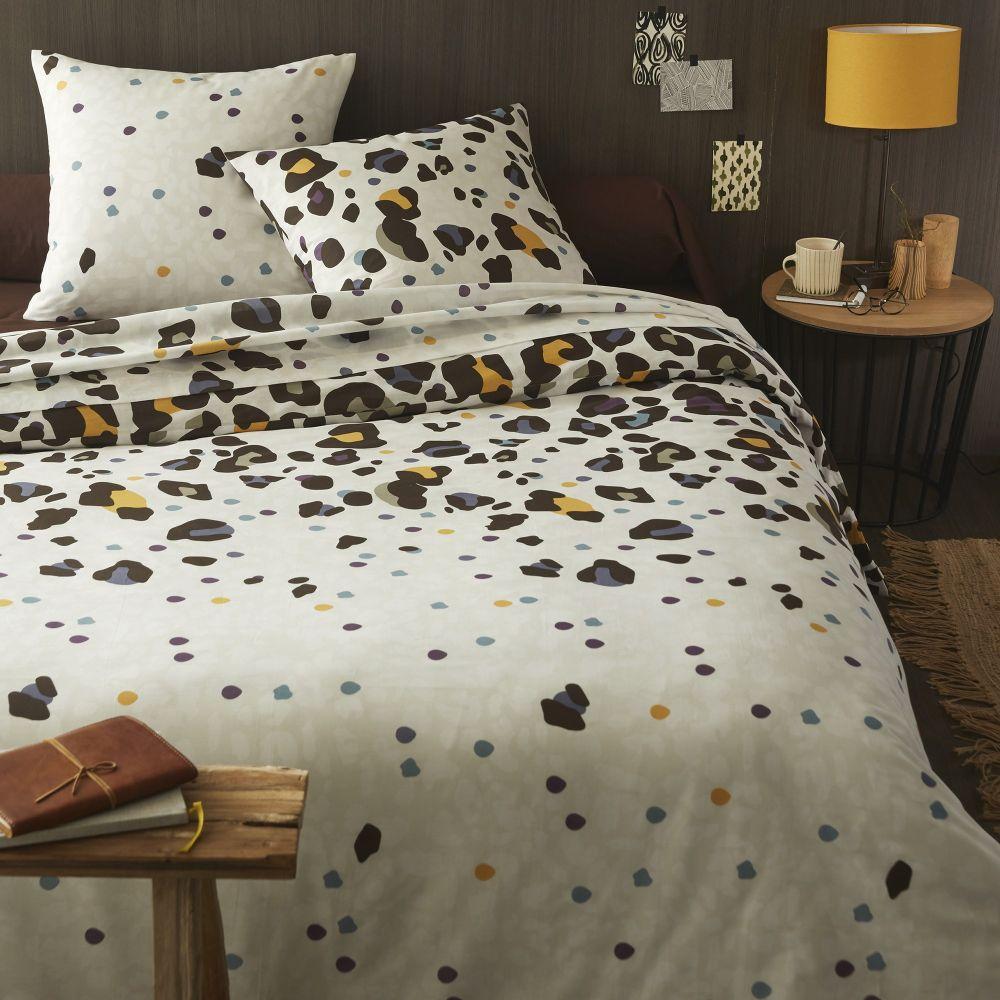 Parure de lit - Housse de couette 100% Coton 51 fils Skinny Cacao : Taille - 200 x 200 cm