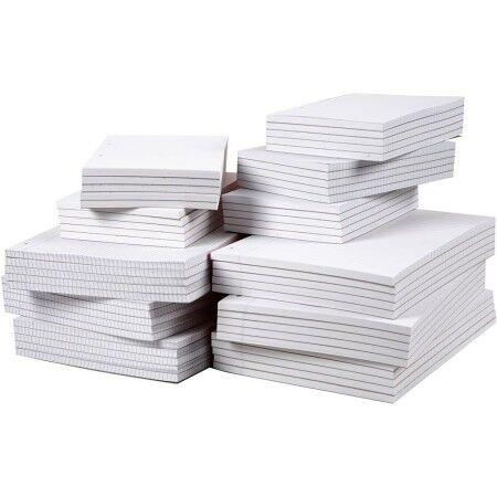 Creotime Feuilles blanches lignées en bloc - A4 - 60 g - 100 pcs