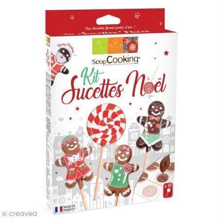 ScrapCooking Kit sucettes de Noël - Candy pop et bonhomme pain d'épices