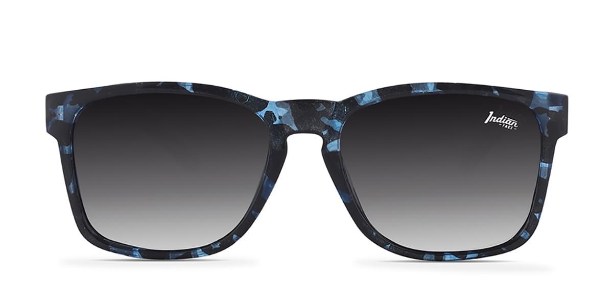 The Indian Face Free Spirit Blue Tortoise Polarized Lunettes de soleil