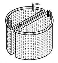 CHEFOOK 2 Demi-Paniers Diamètre 71 cm Pour Marmite 200 Litres Profondeur 90 cm