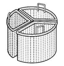 CHEFOOK 3 Paniers 1/3 Diamètre 56 cm Pour Marmite 200 Litres Profondeur 90 cm